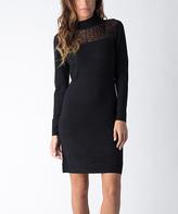 Yuka Paris Black Embellished Sweater Dress