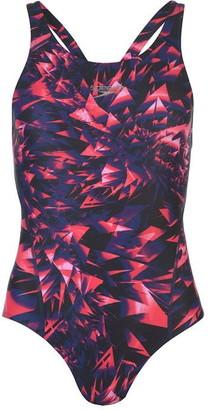 Speedo Allover Pattern Racerback Swimsuit Ladies