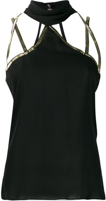 Versace Pre Owned Strappy Cut-Out Detailed Top