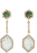 Jade Jagger Diamond, emerald & yellow-gold earrings