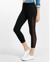 Express cropped mesh stripe leggings