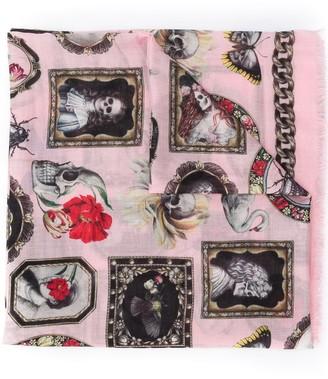Alexander McQueen Cameo and curiosities shawl