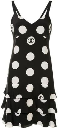 Chanel Pre Owned 1997 CC polka dot print dress