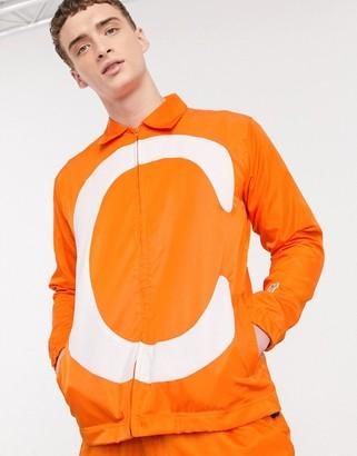 Carrots C nylon track jacket in orange