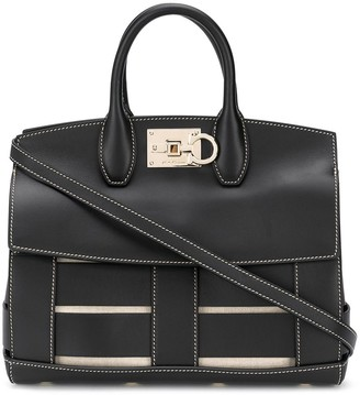 Salvatore Ferragamo Studio woven-leather bag