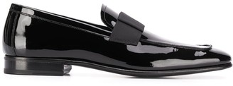 Tom Ford Grosgrain Strap Patent Loafers