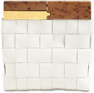 Bottega Veneta Snap Clutch Leather Bag