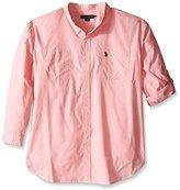 U.S. Polo Assn. Men's Long Sleeve Slim Fit Button Down Sport Shirt