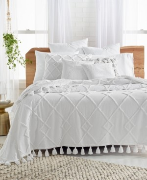 Lucky Brand Closeout! Diamond Tuft Queen Bed Cover, Created for Macy's Bedding