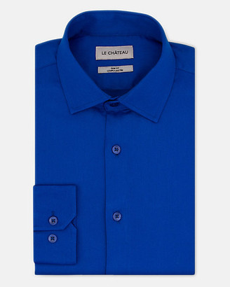 Le Château Tonal Twill Slim Fit Dress Shirt