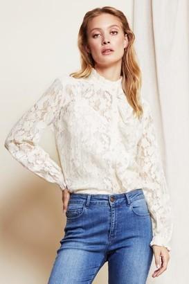 Fabienne Chapot - Garden Indy Lace Blouse Cream White - 36