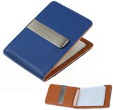 Beige Brown Possibly Leather Wallet Stainless Steel Money Clip and 14 Card Holders Thank You For Mom By Epoint