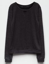 WHITE FAWN Cozy Girls Choker Sweatshirt