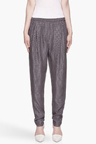 3.1 PHILLIP LIM Navy Draped-Pocket pleated Trousers