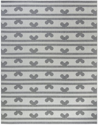 Disney Disney's Mickey Mouse Peek a Boo Stripe Indoor Outdoor Rug