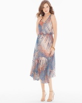 Soma Intimates Chiffon Midi Dress Blue/Peach