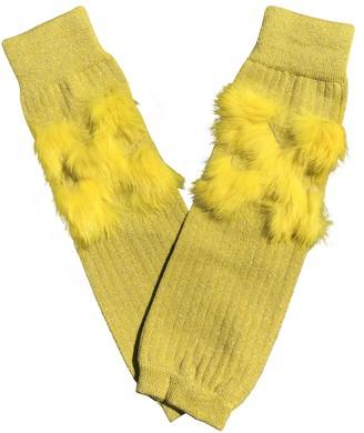 Off-White Yellow Cotton Gloves