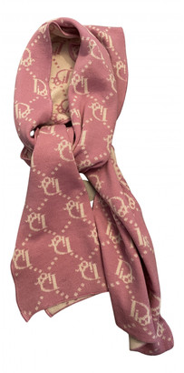 Christian Dior Pink Wool Scarves