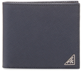 Prada Saffiano Triangolo Bifold Wallet