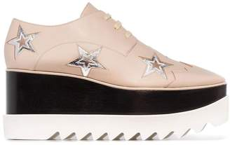 Stella McCartney Elyse star motif platform brogues