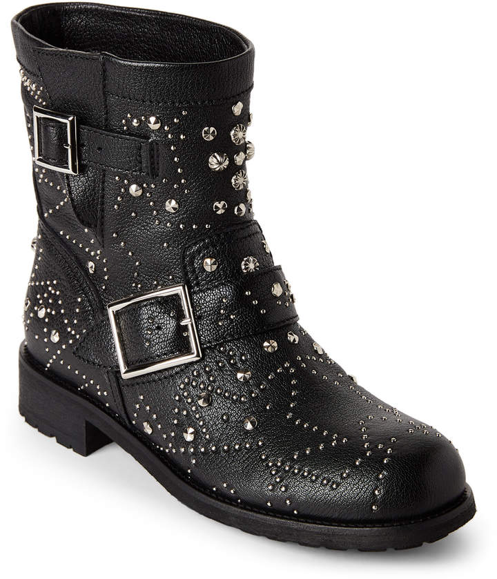Jimmy Choo Black Youth Studded Leather Ankle Boots