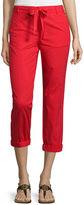 Liz Claiborne Poplin Cropped Pants
