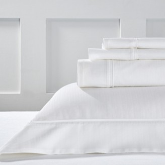 The White Company Blake Flat Sheet, White, Double