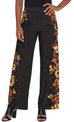 Susan Graver Regular Printed Liquid Knit Wide-Leg Pants