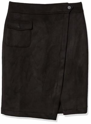Anne Klein Women's Scuba Suede Split Front Skirt