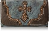 Nocona Blazin Roxx Brown and Blue Cross Wallet N7516327Cross Wallet