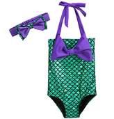 Pettigirl Girls' Lovely swimming wear Princess Mermaid Swimsuit Bowknot