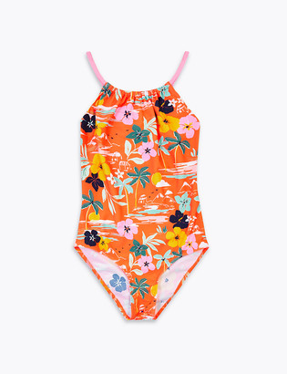 Marks and Spencer Tropical Print Swimsuit (6-16 Yrs)