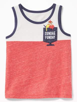 Old Navy Color-Blocked Graphic-Pocket Tank for Toddler Boys