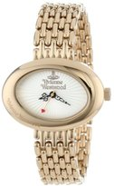 Vivienne Westwood Women's VV014WHGD Ellipse Swiss Quartz Gold Tone Bracelet Watch