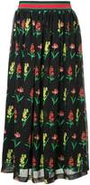 Muveil floral print midi skirt