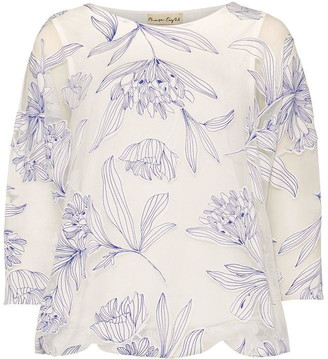 Phase Eight Reine Floral Bubble Burnout Top