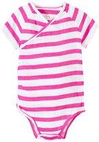 Aden Anais aden anais Kimono Bodysuit (Baby) - Shocking Pink Stripe - 3-6 Months
