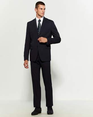 Versace Two-Piece Blue Woven Pinstripe Suit