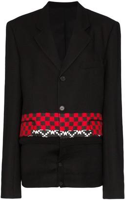 Haider Ackermann Checked Knitted Blazer
