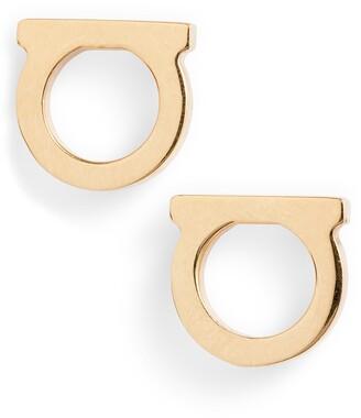 Salvatore Ferragamo Small Gancio Stud Earrings