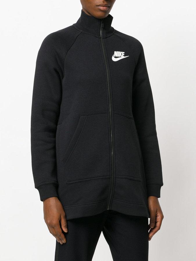 Nike logo zipped sweatshirt