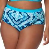 Plus Size Pink Envelope Tummy Slimmer High Waisted Bikini Bottoms