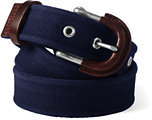 Lands' End Men's Cotton Web Belt-Classic Navy