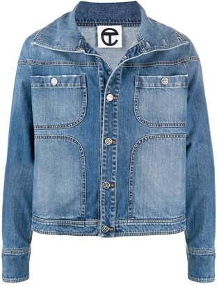 Telfar Unisex Distressed Denim Jacket