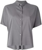 Eleventy short-sleeved button fastening shirt - women - Silk/Spandex/Elastane - 40