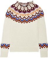Loewe Intarsia Wool-blend Sweater - Off-white