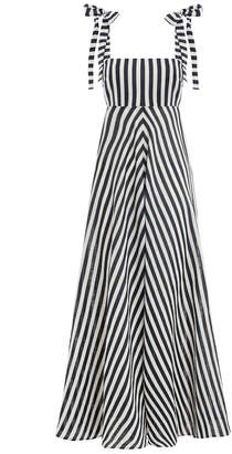 Zimmermann Honour Chevron Tie Dress