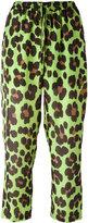 Blugirl leopard print cropped trousers - women - Silk/Polyester - 38