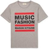 MAISON KITSUNÉ Slim-Fit Printed Cotton-Jersey T-Shirt