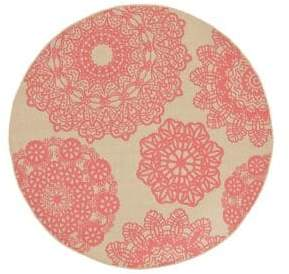 Liora Manné Terrace Crochet Round Indoor and Outdoor Rug